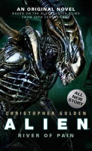 Book cover showing an alien xenomorph queen