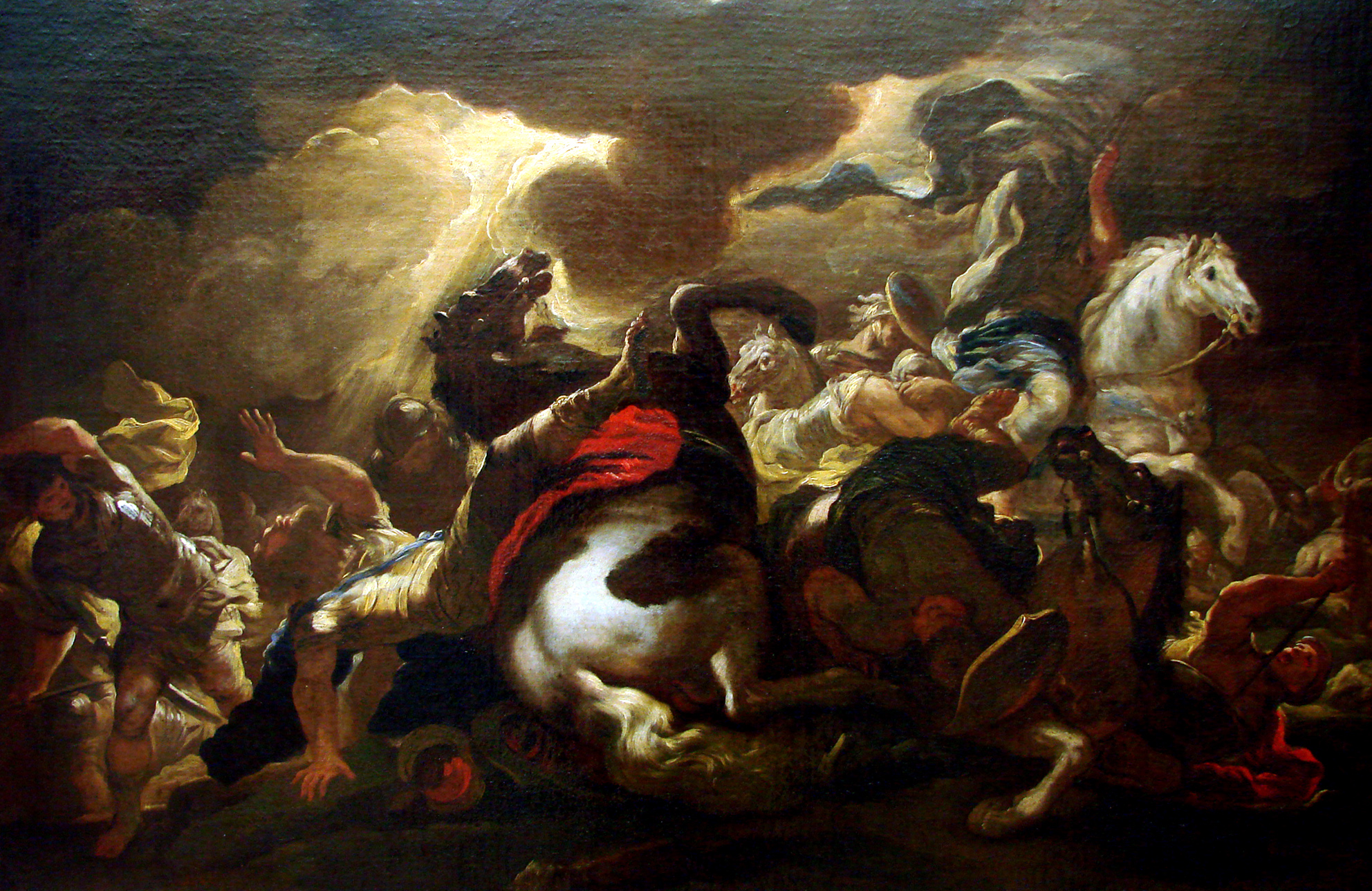 The conversion of St Paul, artwork by Luca Giordiano.