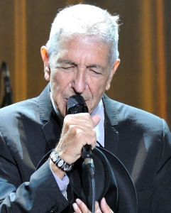 Leonard Cohen performing in 2013.